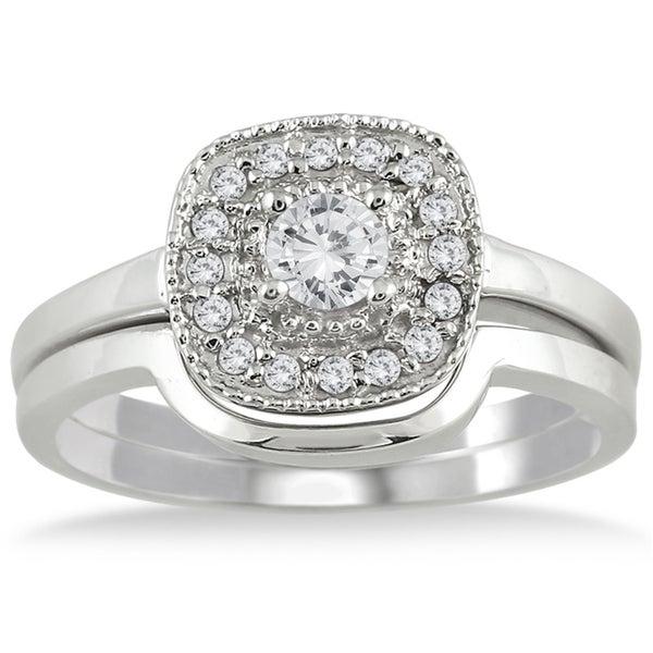 10k White Gold 1/3ct TDW White Diamond Bridal Ring Set (I-J, I1-I2)