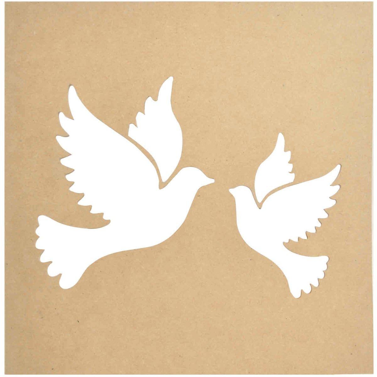 "Beyond The Page MDF Silhouette Wall Art 12""X12"" Frame-Doves"
