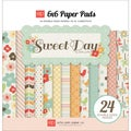 Sweet Day Double-Sided Cardstock Pad 6&quot;X6&quot; 24 Sheets-