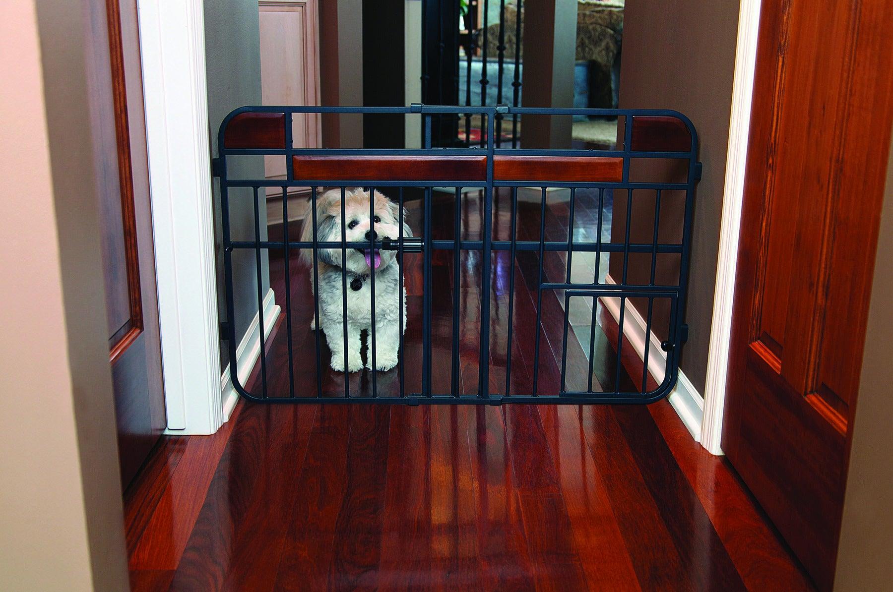 Carlson Design Studio Tuffy Wood Metal Expandable Gate