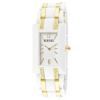 Versus Women's 'Aoyama' White Resin Goldtone Ion-plated Watch
