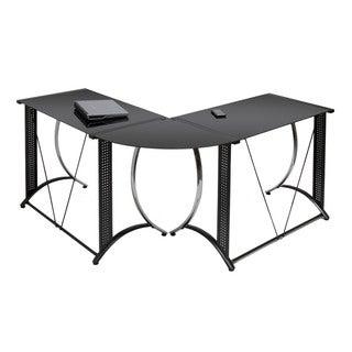 Calico Designs Monterey LS Black Powder-coated Steel Corner Desk