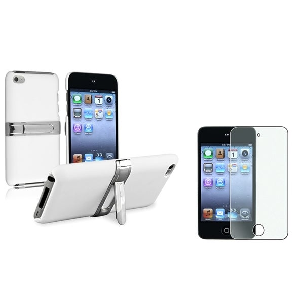 BasAcc White Case/Screen Protector Bundle for Apple iPod Touch Generation 4