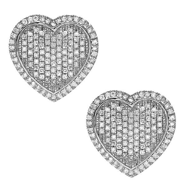 10k Gold 5/8ct TDW Diamond Heart-shaped Earrings (G-H, I1-I2)