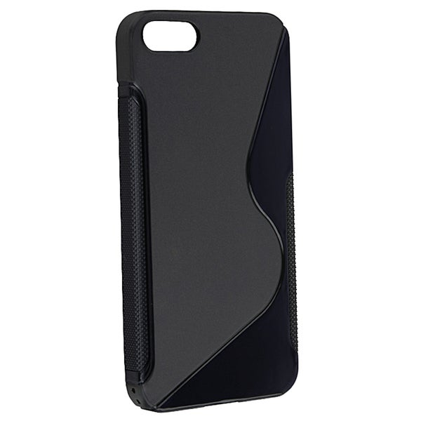 INSTEN Black S Shape TPU Rubber Phone Case Cover for Apple® iPhone 5/ 5S