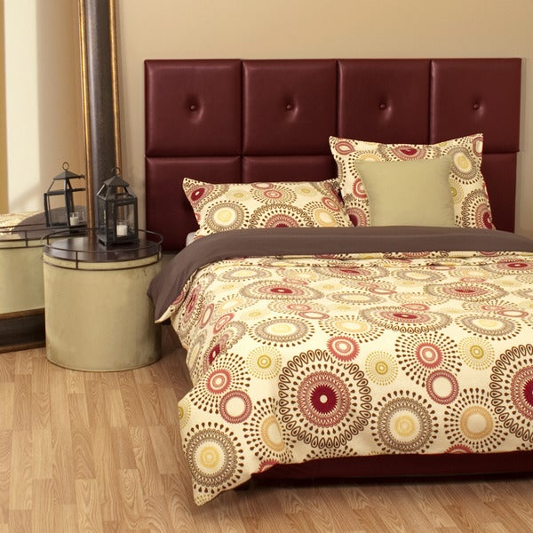 Queen-size Red Faux Leather Tile Headboard Kit