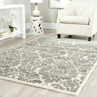 Safavieh Porcello Damask Ivory/ Grey Rug (4' x 5' 7)
