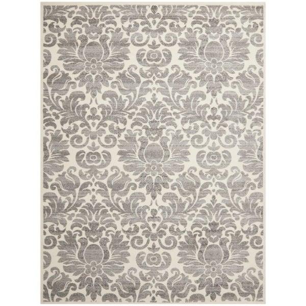 Safavieh Porcello Damask Ivory/ Grey Rug (6'7 x 9'6)