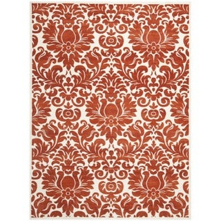 Safavieh Porcello Damask Ivory/ Red Rug (8' x 11'2)
