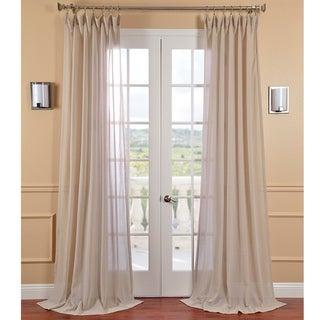 Tumbleweed Faux Linen Sheer Curtain Panel