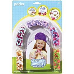 Perler Fun Fusion Fuse Bead Activity Kit-Pink Jewelry