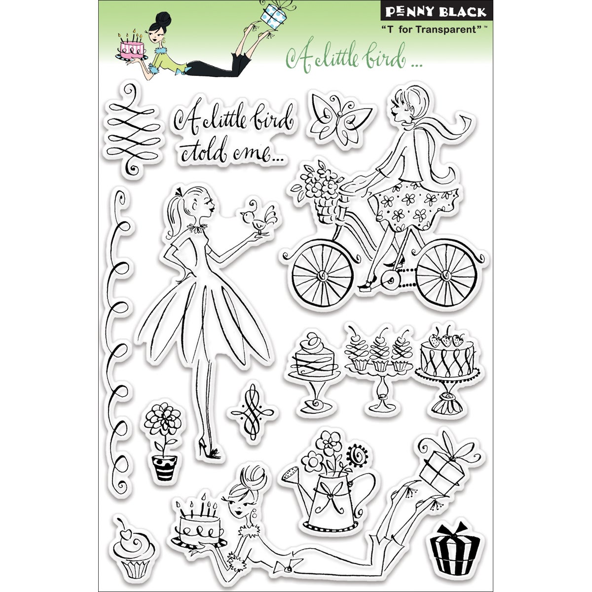 Penny Black 'A Little Bird...' Clear Stamps