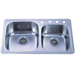 Self Rimming Double Bowl Kitchen Sink