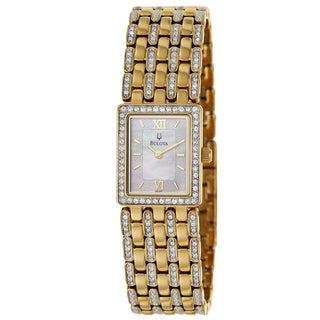 Bulova Women's 98L159 Crystal Diamond Bezel Watch