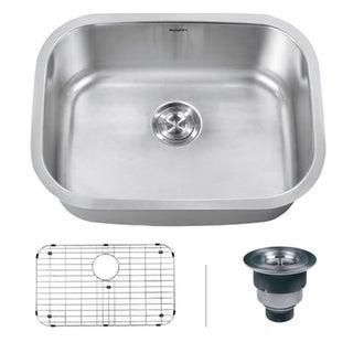 Ruvati Undermount 16 Gauge Single Bowl Kitchen Sink