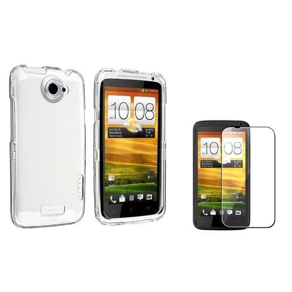 INSTEN Crystal Phone Case Cover/ Screen Protector for HTC One X