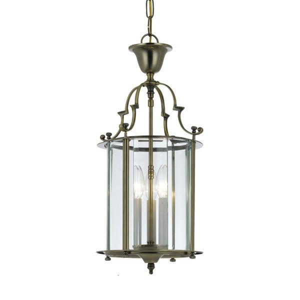 Camden 3-light Pendant in Antique Brass