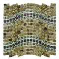 SomerTile Reflections Wave Jupiter Glass, Stone and Metal Mosaic Tile (Case of 10)