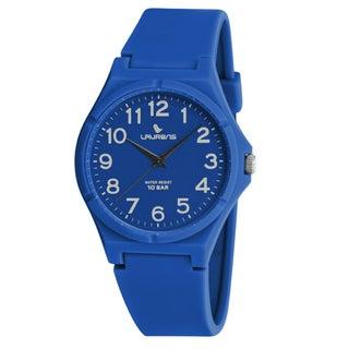 Laurens Kids' Italian Design Blue Rubber Analog Watch