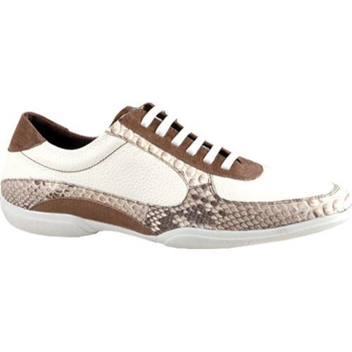 Men's GooDoo Luxury 005 White Calf/Brown Anaconda Print Leather