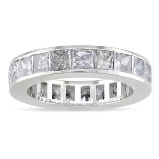 Miadora 18k White Gold 4ct TDW Diamond Full Eternity Ring (G-H, I1-I2)