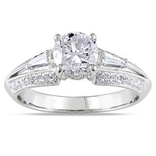 14k White Gold 1 1/2ct TDW Taper Baguette Diamond Ring (G-H, I1-I2)