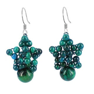 Sweet Star Round Globe Stones Earrings (Thailand)