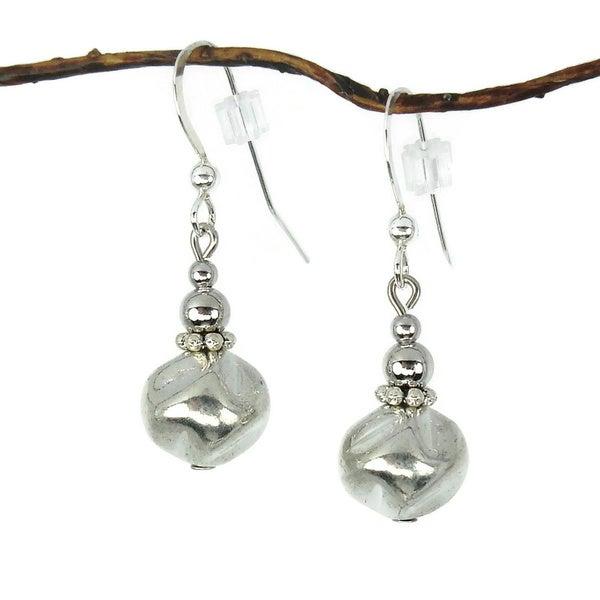 Jewelry by Dawn Silver Nugget Dangle Earrings