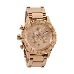 Nixon Men's 42-20 Rose-gold Chronograph Watch