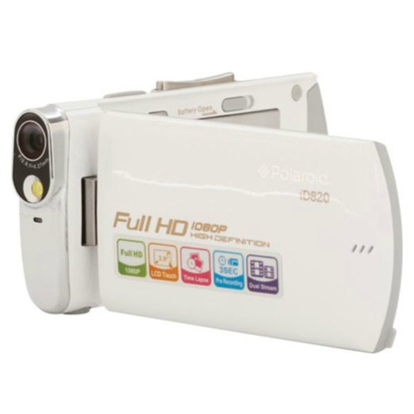 Polaroid iD820 HD White Slim Digital Camcorder