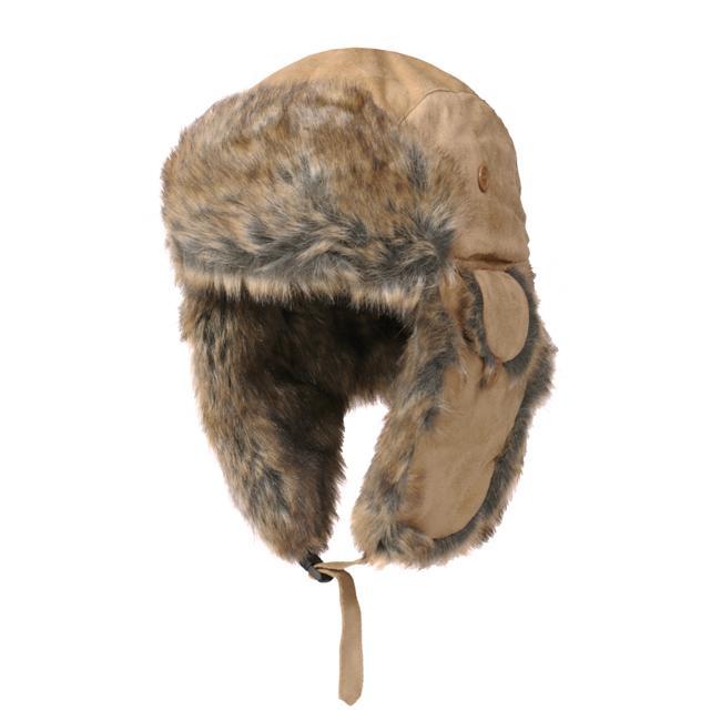 Boston Traveler Men S Suede Faux Fur Trapper Hat