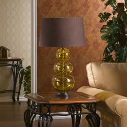 Denmark 1-light Amber Polka Dot Table Lamp