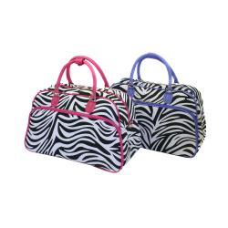 World Traveler Women's Zebra Print Shoulder Tote Bag