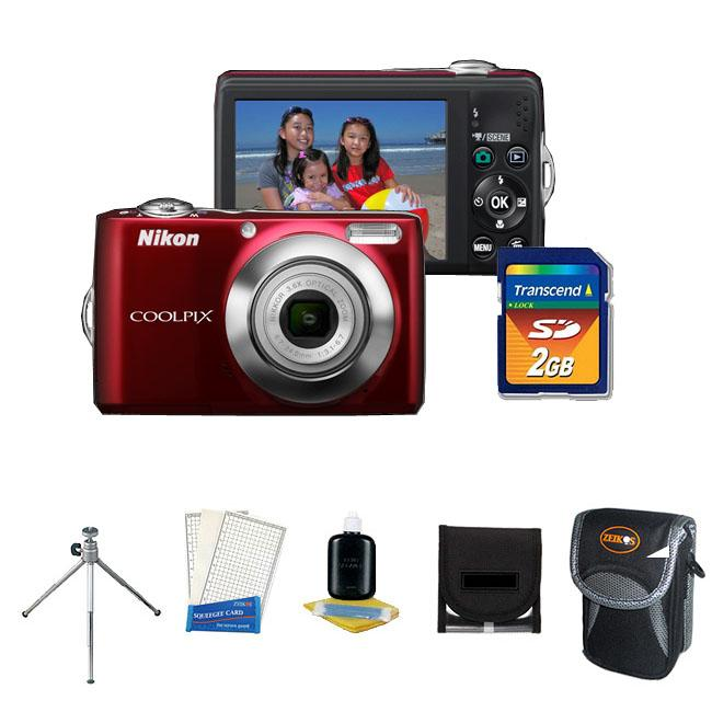 Nikon Coolpix L22 12MP Digital Camera with 2GB Kit (Refurbished)