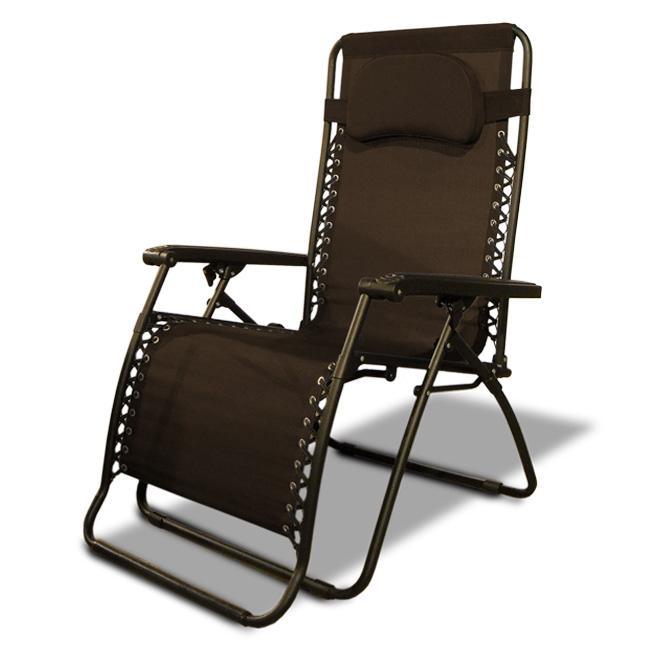 Caravan Canopy Dark Brown Oversized Zero-Gravity Chair