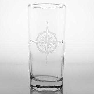 Rolf Glass Compass Rose Cooler 15 oz (Set of 4)
