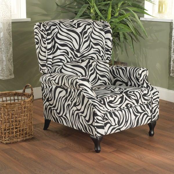 Simple Living Zebra Wing Recliner