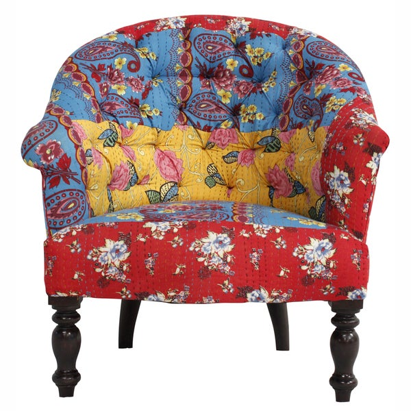 nuLOOM Casual Living Floral Multi Arm Chair