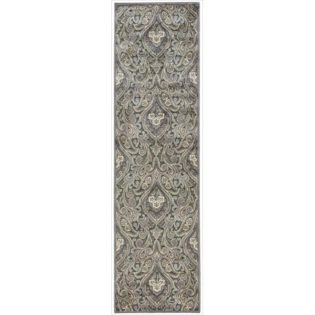 Nourison Graphic Illusions Paisley Multi Grey Rug (2'3 x 8')