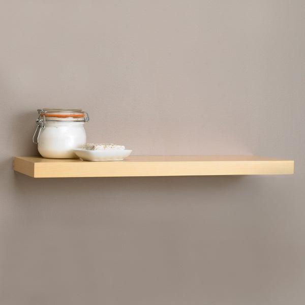 Square Edge 17.7-inch Bracket-less Shelf Kit with Light Oak Finish
