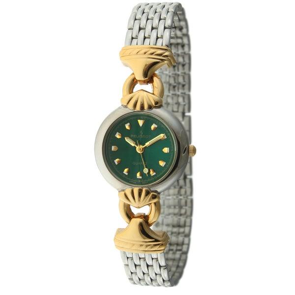 Peugeot Women's '710-8' Green Dial Mesh Bracelet Watch