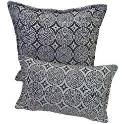 Corona Decor Steel and White Indoor/ Outdoor Decorative Throw Pillow (Set of 2)