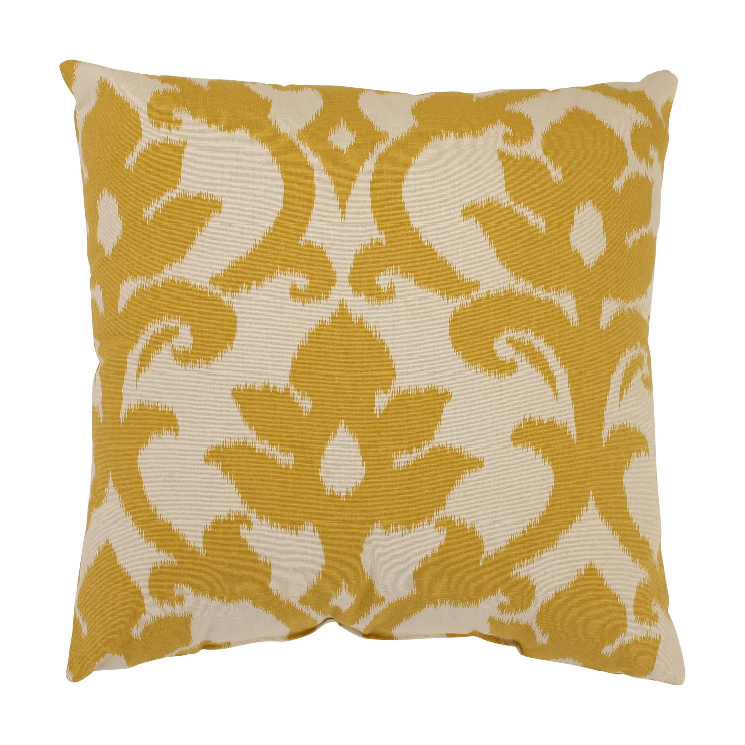 Throw Pillow Yellow :  Azzure Gold Square Throw Pillow