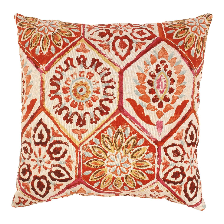 Summer Breeze 18-inch Throw Pillow in Crimson