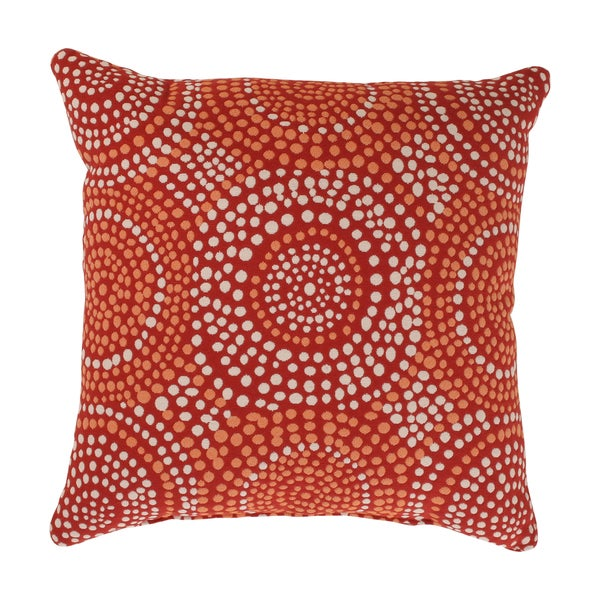 Pillow Perfect 'Mosaic' Red Square Throw Pillow