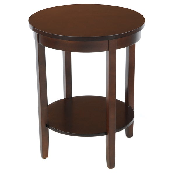 Overstock End Tables: Bianco Collection Espresso Round Accent Table