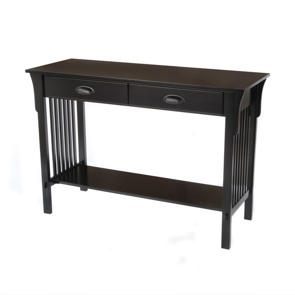 Bianco Collection Mission Black Sofa/ Console Table