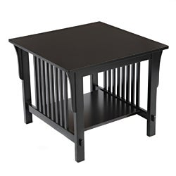 Bianco Collection Mission Black End Table