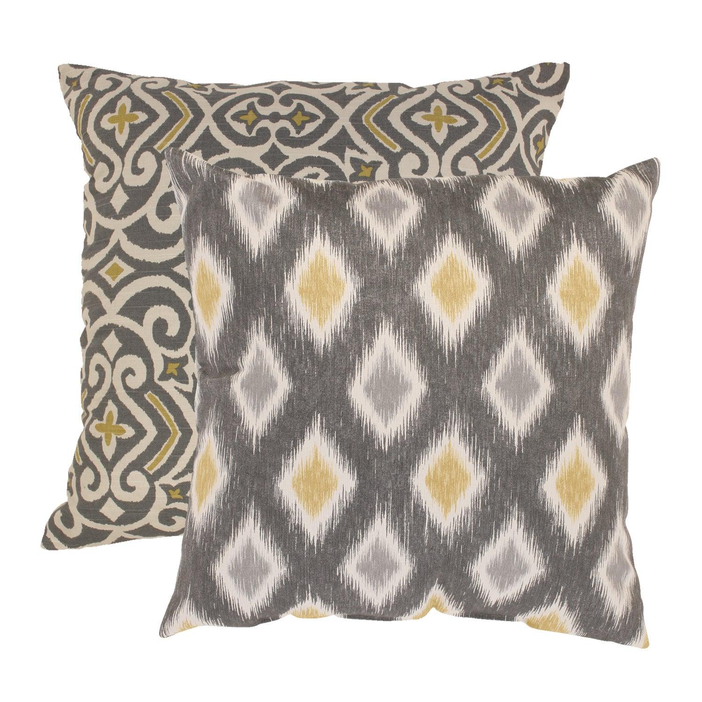 Pillow Perfect 'Damask' and 'Rodrigo' Throw Pillows (Set of 2)