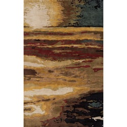 Hand-tufted Monet Sunset Multi Rug (8' x 11')